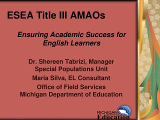 ESEA Title III AMAOs