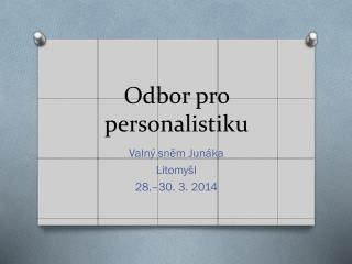 Odbor pro personalistiku
