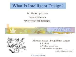 What Is Intelligent Design?