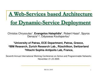 A Web-Services based Architecture for Dynamic-Service Deployment