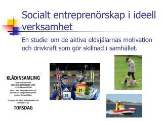 Den sociala entreprenören