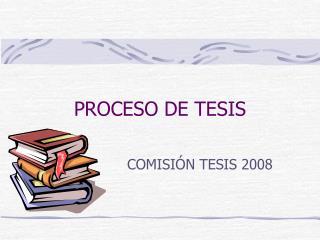 PROCESO DE TESIS