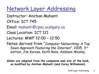 Network Layer Addressing