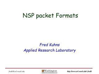 NSP packet Formats