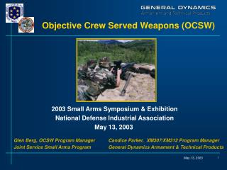 Objective Crew Served Weapons OCSW