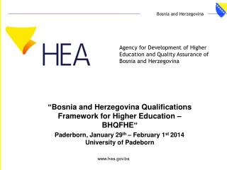 Agency for Development of Higher Education and Quality Assurance of Bosnia and Herzegovina