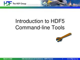 Introduction to HDF5 Command-line Tools