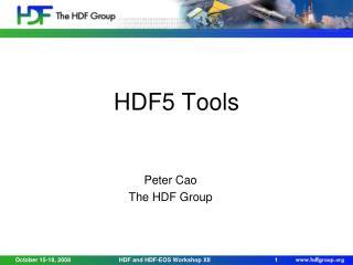 HDF5 Tools
