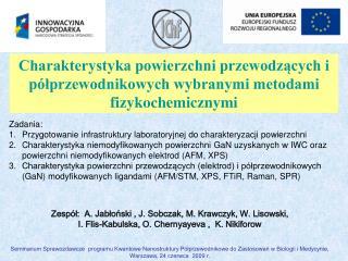 Zesp�?:  A.  Jab ? o ? ski  , J. Sobczak, M. Krawczyk, W. Lisowski,