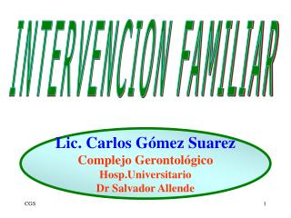 INTERVENCION FAMILIAR