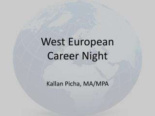 West European  Career Night