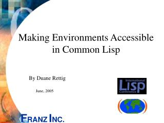 Making Environments Accessible in Common Lisp