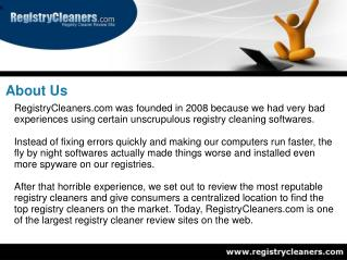RegistryCleaners.com - Registry Cleaner Review Site