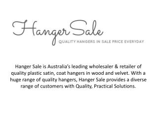 Buy coat hangers at wholesale price