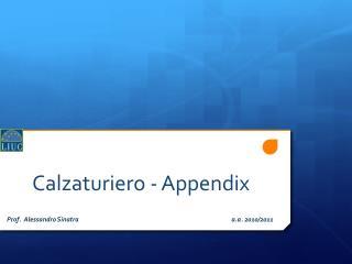 Calzaturiero - Appendix