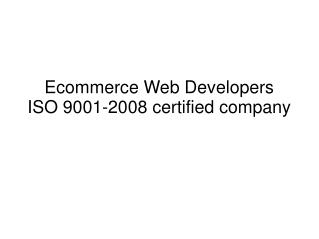 Ecommerce website development
