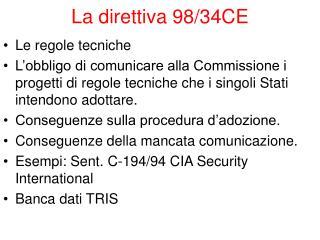 La direttiva 98/34CE