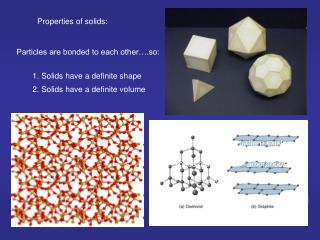 Properties of solids: