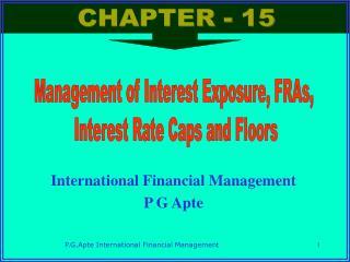 International Financial Management  P G Apte