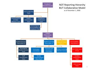 NOT Reporting Hierarchy  BUT Collaborative Model as of December 1, 2009