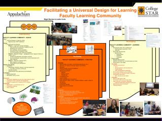 Facilitating a Universal Design for Learning Faculty Learning Community Nigel Davies & Leslie Cook