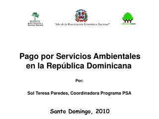 Pago por Servicios Ambientales en la República Dominicana