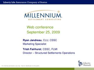 Web conference September 25, 2009