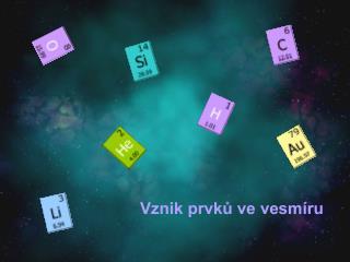 Vznik prvků ve vesmíru