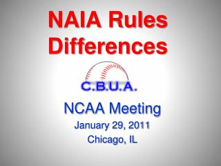 NAIA Rules  Differences
