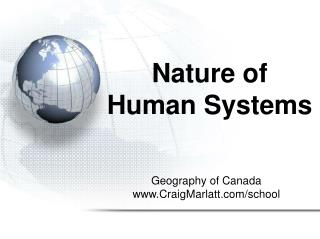 Nature of  Human Systems