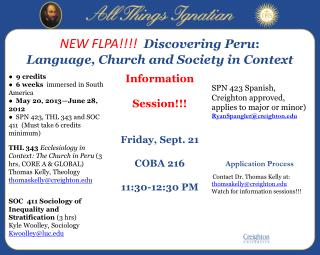 NEW FLPA!!!!   Discovering Peru :   Language, Church and Society in Context