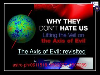 The Axis of Evil: revisited