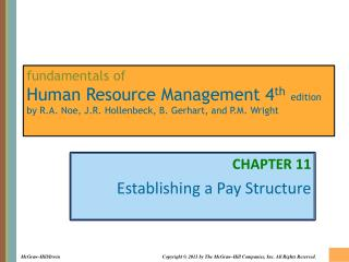 CHAPTER 11 Establishing a Pay Structure