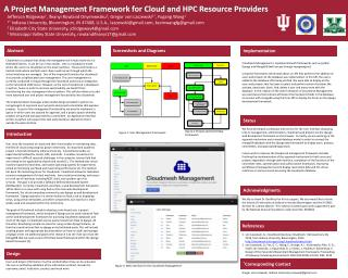 A Project Management Framework for Cloud and HPC Resource Providers