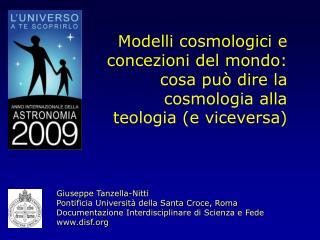 Modelli cosmologici e concezioni del mondo: