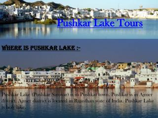 Pushkar Lake Tours