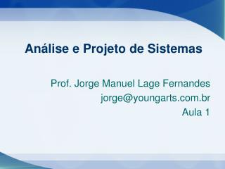 An�lise e Projeto de Sistemas