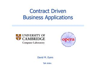 Contract Driven Business Applications