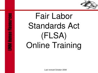 Fair Labor Standards Act (FLSA) Online Training