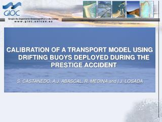 CALIBRATION OF A TRANSPORT MODEL USING DRIFTING BUOYS DEPLOYED DURING THE PRESTIGE ACCIDENT