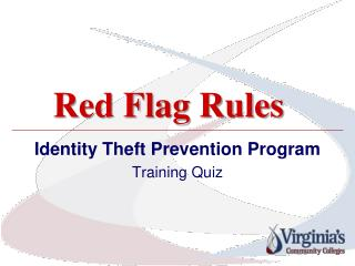 Red Flag Rules