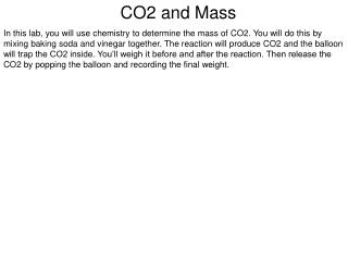 CO2 and Mass