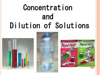 Concentration  and  Dilution of Solutions
