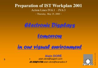 Electronic Displays  tomorrow  in our visual environment