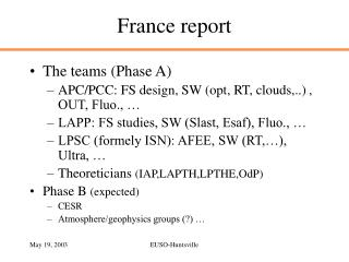 France report