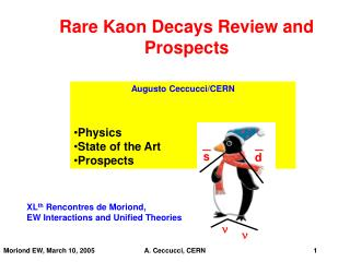 Rare Kaon Decays Review and Prospects