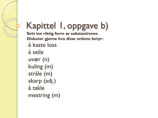 Kapittel 1, oppgave b)