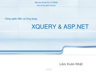 XQUERY & ASP.NET