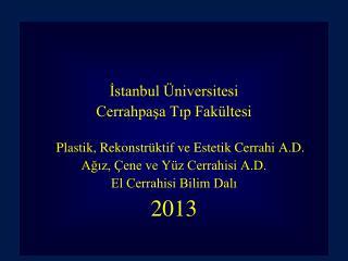 İstanbul Üniversitesi Cerrahpaşa Tıp Fakültesi Plastik, Rekonstrüktif ve Estetik Cerrahi A.D.