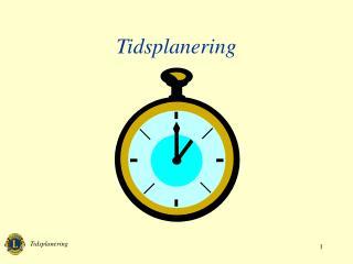 Tidsplanering